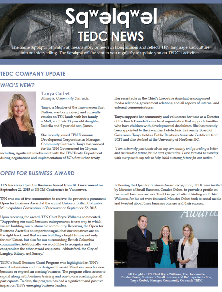 TEDC Dec 2015 Mid-year Review