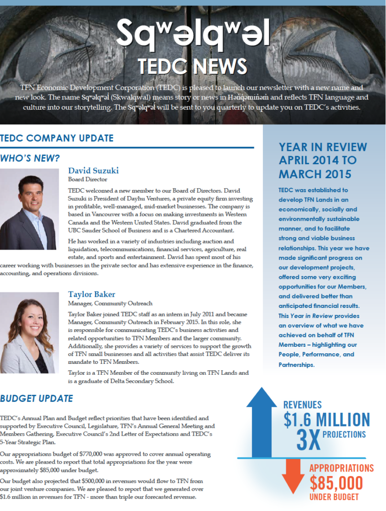 TEDC May 2015 Year in Review