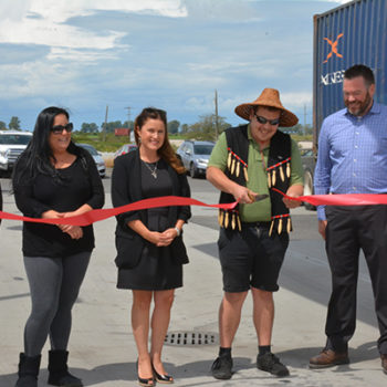 Deltaport Logistics Centre ribbon cutting